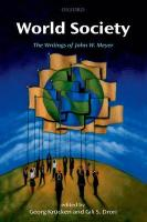 World Society: The Writings of John W. Meyer