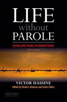 Life Without Parole Life Without Parole: Living and Dying in Prison Today Living and Dying in Prison Today