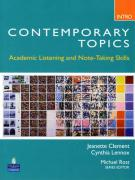 Contemporary Topics Intro: Academic Listening and Note-Taking Skills