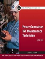 Power Generation Instrument and Controls Maintenance Technician Trainee Guide, Level 1