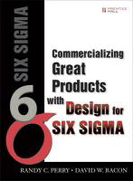 Commercializing Great Products with Design for Six SIGMA (Paperback)