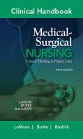 Clinical Handbook for Medical-Surgical Nursing: Critical Thinking in Patient Care