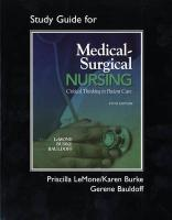 Medical-Surgical Nursing: Critical Thinking in Patient Care