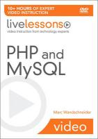 PHP and MySQL LiveLessons (video Training)