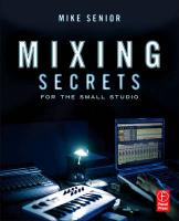 Mixing Secrets in the small studio