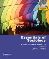 Essentials of Sociology: A Down-To-Earth Approach. by James M. Henslin (International Edition)