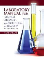 Lab Manual for General, Organic, and Biological Chemistry