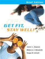 Get Fit, Stay Well! [With Behavior Change Log Book]