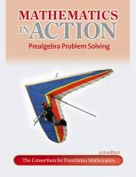 Mathematics in Action: Prealgebra Problem Solving