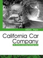 California Car Company: An Active Learning Costing Case