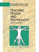 Teaching Design and Technology (Developing Science & Technology Education)