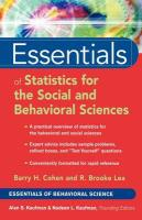 Essentials of Statistics for the Social and Behavioral Sciences