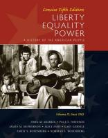 Liberty, Equality, Power, Volume II: Concise: Since 1863: A History of the American People