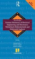 Routledge German Dictionary of Electrical Engineering and Electronics Worterbuch Elektrotechnik and Elektronik Englisch: Vol 1: ... (Routledge Bilingual Specialist Dictionaries)