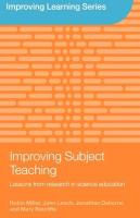 Improving Subject Teaching: Lessons from Research in Science Education