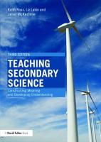 Teaching Secondary Science: Constructing Meaning and Developing Understanding
