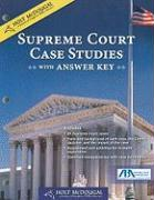 Holt McDougal Supreme Court Case Studies with Answer Key [With Transparency(s)]