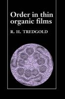 Order in Thin Organic Films