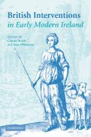 British Interventions in Early Modern Ireland