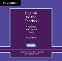 English for the Teacher: A Language Development Course