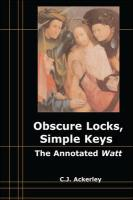 Obscure Locks, Simple Keys