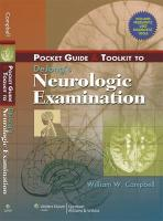 Pocket Guide and Toolkit to DeJong?s Neurologic Examination