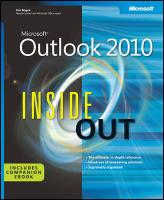 Microsoft® Outlook 2010 Inside Out