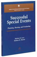 Successful Special Events: Planning, Hosting and Evaluating