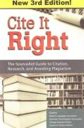 Cite It Right: The SourceAid Guide to Citation, Research, and Avoiding Plagiarism