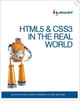 HTML5 & CSS3 in The Real World