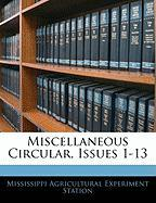 Miscellaneous Circular, Issues 1-13