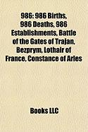 986: Battle of the Gates of Trajan, List of State Leaders in 986,