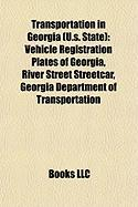 Transportation in Georgia (U.S. State): Vehicle Registration Plates of Georgia