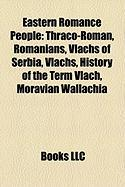 Eastern Romance People: Thraco-Roman