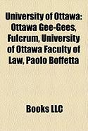 University of Ottawa: Ottawa Gee-Gees, Fulcrum, University of Ottawa Faculty of Law, Paolo Boffetta
