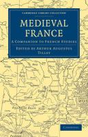 Medieval France: A Companion to French Studies (Cambridge Library Collection - Medieval History)