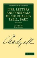 Life, Letters and Journals of Sir Charles Lyell, Bart - Volume 1