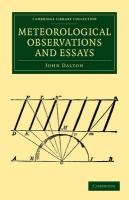 Meteorological Observations and Essays