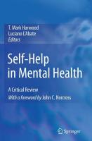 Self-Help in Mental Health: A Critical Review