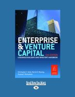 Enterprise and Venture Capital: A Business Builders' and Investors' Handbook (Large Print 16pt)