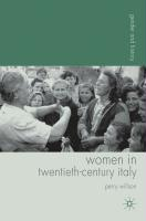 Women in Twentieth-Century Italy (Gender and History)