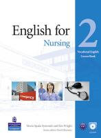 Vocational English (Elementary) English for Nursing Coursebook (with Audio CD)