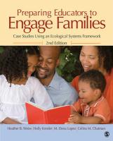 Preparing Educators to Engage Families: Case Studies Using an Ecological Systems Framework