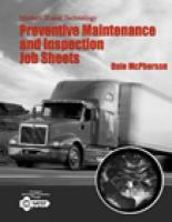 Modern Diesel Technology: Safety, Preventive Maintenance and Inspection Job Sheets