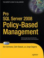 Pro Server 2008 Policy-Based Management