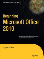 Beginning Microsoft Office 2010