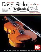 Easy Solos for Beginning Viola, Level 1 (Building Excellence)