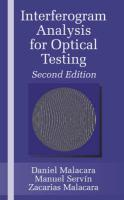 Interferogram Analysis for Optical Testing, Second Edition