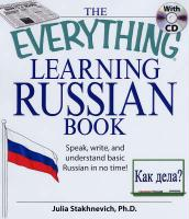 Everything£registered] Learning Russian Book with CD