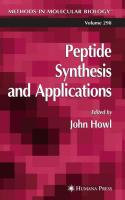Peptide Synthesis and Applications